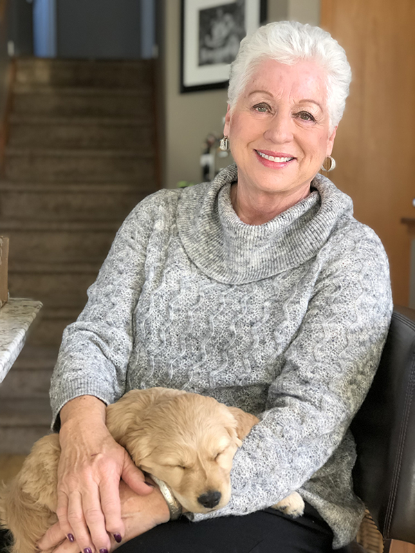 Susan and puppy